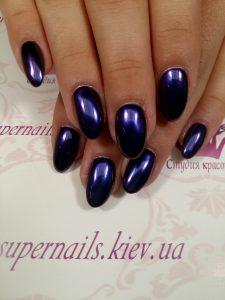 зеркальная втирка фиолет