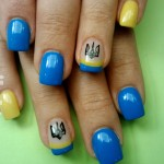 патріотичні нігті, жовто-блакитні нігті, нігті на свято, державні нігті, ногти к 24 августа, ногти ко дню независимости украины