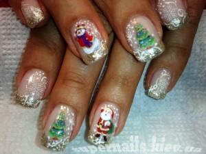 рождество на ногтях