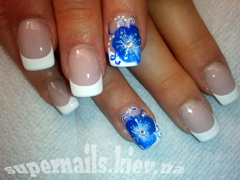 зимний цветок френч