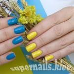 жовто-блакитні нігті, патріотичні нігті, желто-голубые ногти, флаг украины на ногтях, одежда и ногти в патриотическом стиле