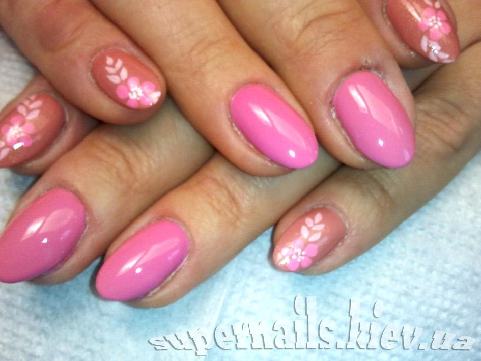 розовый ногти позняки
