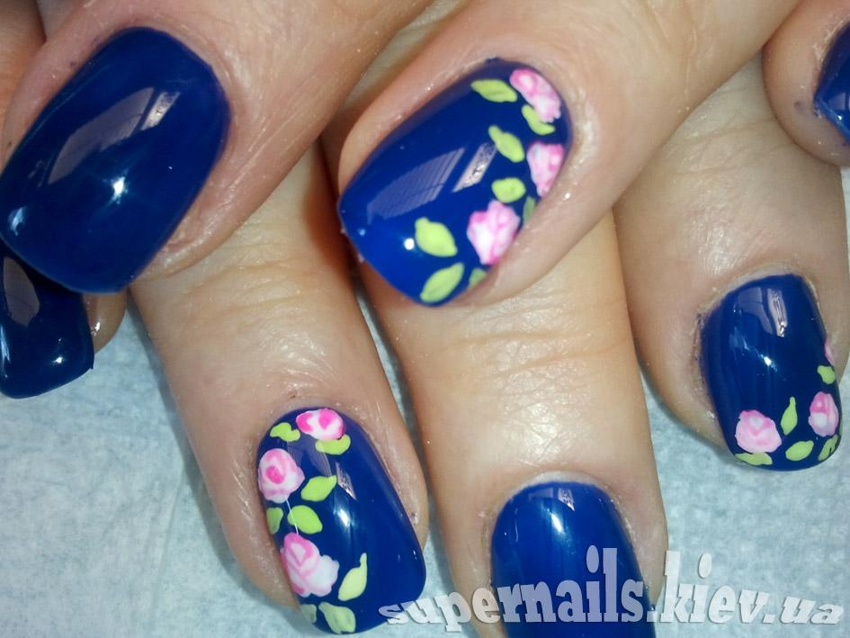 фиолетовые ногти позняки
