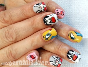 дизайн ногтей на осокорках