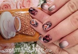 кофейные ногти позняки