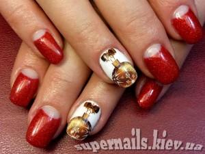 новогодний дизайн ногтей позняки