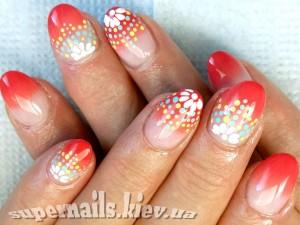 яркие праздничные ногти