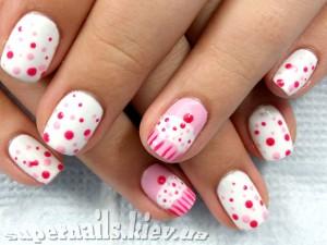 сладкий дизайн ногтей