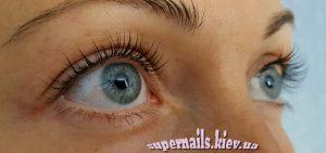 серые глаза нарощенные ресницы
